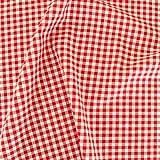 Vichy-Karo in Rot/Weiß Baumwoll-Stoff kariert -