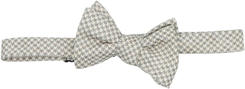 Edward Armah Men's Houndstooth Patterned Bow Tie Necktie