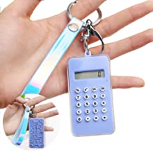 Outgeek Calculator Keychain Creative Mini Pendant Keychain for Stress Relief