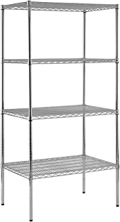 Sandusky Lee WS362474-C Chrome Steel Wire Shelving, 4 Adjustable Shelves, 800 lb. Per Shelf Capacity, 74