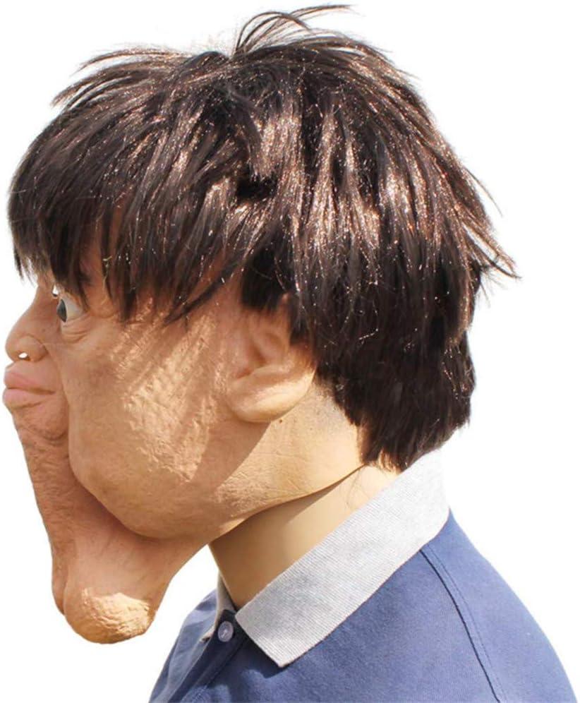 XCBW Máscara de látex FEA de Doble mentón de Halloween ...