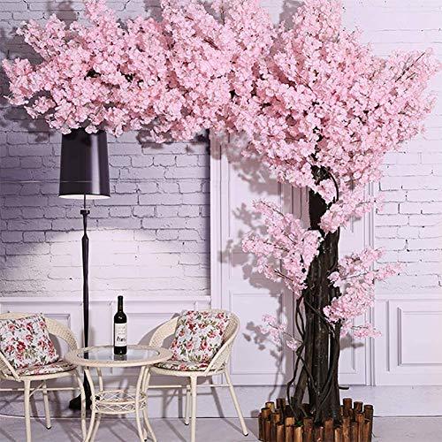 LNDDP Künstliche Kirschblütenblumen Handgemachte wunderschöne künstliche Blume für zu Hause Hochzeitsfeier Garten Büro Dekoration Seidenpflanzen, Pink