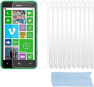Cadorabo DE-102238 skärmskyddsfolie för Nokia Lumia 625 10 st. högtransparenta skyddsfolie mot damm, smuts och repor hög klar