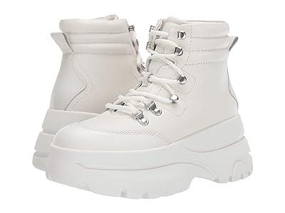 Steve Madden Husky Boot (White Leather) Women