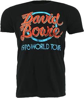 David Bowie Ziggy Stardust 1972 World Tour Oficial Camiseta Camiseta Hombre Unisex