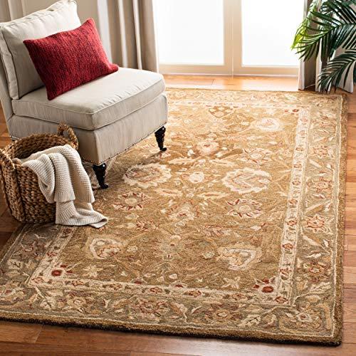 Safavieh Anatolia Collection AN512F Handmade Traditional Oriental Brown and Green Premium Wool Area Rug (9' x 12')