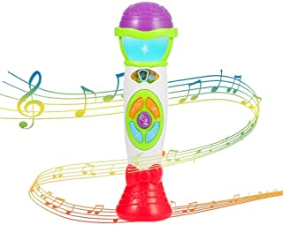FunsLane Kids Microphone Toy Voice Changer Karaoke Machine for Toddler with Recording, Play Music Function and Colorful Lights, Girls Boys Party Favor Toy Great Birthday