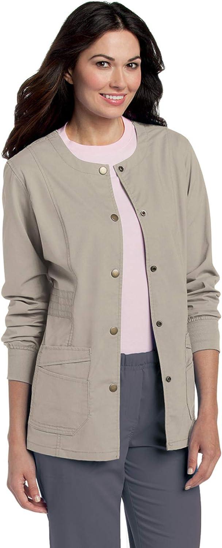 Landau Women's Pre-Washed Soft Max 78% OFF Stretch Ja Up Warm Scrub 2-Pocket Max 66% OFF
