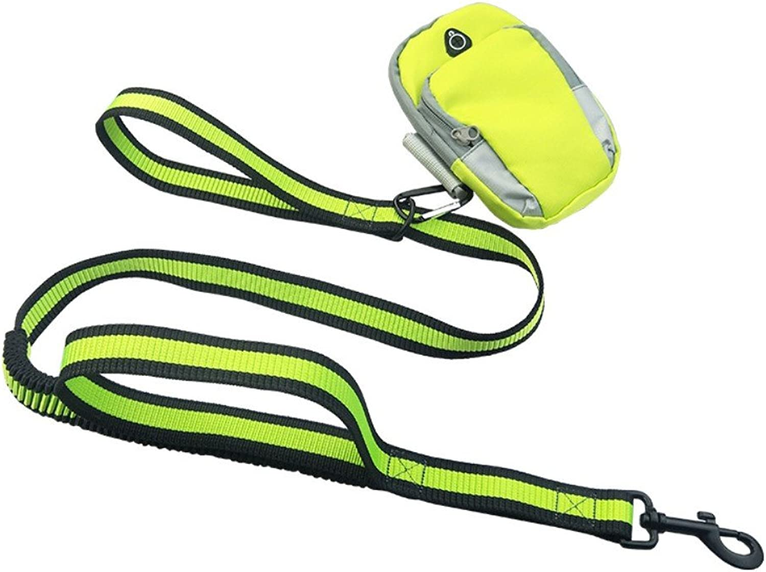 DXABLE Hand Free Dog Leashes, Waterproof Breathable Arm Bags Running Jogging Dog Leash Reflective Elastic Adjustable Rope with Set (Green)