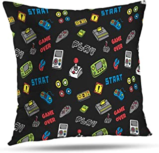 LALILO Throw Pillow Covers, Video Game Controller Accent Double-Sided Pattern for Sofa Cushion Cover Couch Decoration Home Gift Bed Pillowcase 18x18 inch