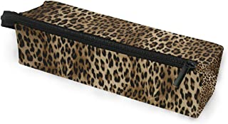 Toprint Vintage Animal Leopard Print Glasses Bag Pouch Portable Travel Zipper Light Sunglasses Case Pencil Case Cosmetic Bag
