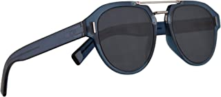 8759fb447d6 Christian Dior Homme DiorFraction5 Sunglasses Blue w Blue Mirror Shaded  Gold Lens 50mm PJPA9 Fraction