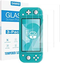 [3 Pack] SAMKE Tempered Glass Screen Protector for Nintendo Switch Lite 2019 Transparent HD,High Definition,Clear Anti-Scratch with Anti-Fingerprint Bubble-Free