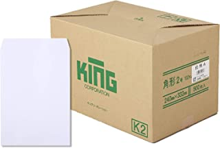 キングコーポレーション 白封筒 角形2号 100g 500枚入 010306