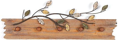 JiuErDP Rétro Style nostalgique Crochet décoratif en Bois en Fer forgé clé Crochet Crochet Porche Crochet de Suspension Crochet à vêteHommests