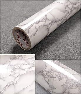 TJLMCORP: Papel de contacto de mármol blanco, gris, negro, marrón, mármol, papel, Mármol gris., 15.7