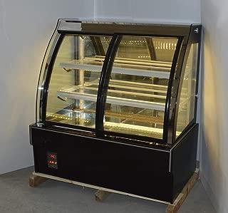 INTBUYING 48'' Floor Type Refrigerated Cake Showcase Pie Bekery Cabinet Display Case Cooler (Arc Front Door)