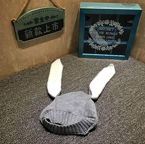 PZNSPY babyoren, konijnen, hoeden, voor herfst en winter, gebreid, voor kinderen, baby, bunny beanie, hoeden, accessoires voor fotografie. grijs.
