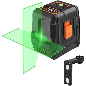 Livella laser verde, Tacklife SC-L07G 35m Livellatrice crossover autolivellante, linea laser orizzontale / verticale a 110 °, IP54, supporto magnetico