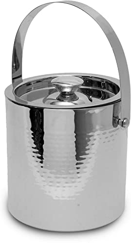 Generic Hammered Insulated Ice Bucket With Tong By Topshelf