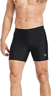 Baleaf Mens 'Swimsuit Athletic Jammers سریع خشک فشرده سازی Square Leg Swim Trim Swimsuit