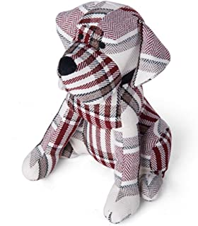 Elements Red Plaid Dog Door Stopper