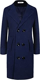 Winter Classic Wool Coats for Women Thick Double Breasted Long Pea Coat