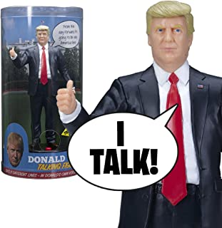 Donald Trump Talking Figure - says 17 Different Audio Lines in Trump's Own Voice - Loaded with His Funniest and Most Memorable Quotes - Beautifully Sculpted - Includes Batteries - Collectible