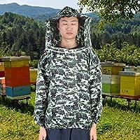 【クリスマスギフト】ポリエステル綿養蜂ベールスーツ、養蜂ジャケット、養蜂作業用の通気性防蚊バイト防ダニ屋外釣り