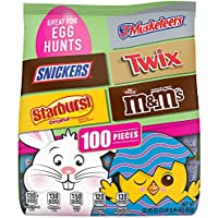 M&M'S, Snickers, Twix, 3 Musketeers & Starburst Chocolate Easter Candy (100 Pieces)