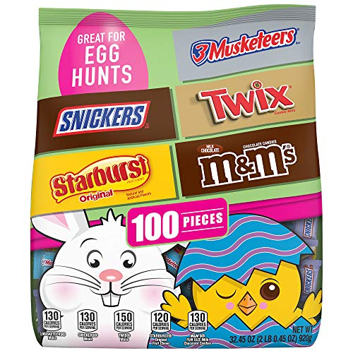 M&M'S, Snickers, Twix, 3 Musketeers, & Starburst Easter Candy 100 Piece Bag Now $9.98