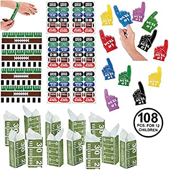 Football Party Favors Game Day Tailgating Team Favors Birthday Party Supplies for 12