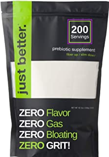 Prebiotic Fiber Supplement for a Healthy Gut | Fiber Powder with Zero Grit Zero Taste and No Bloating or Gas | Feel Full F...