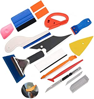 Bingcute 13PCS Window Tint Tools Kit Protective Film Car Vinyl Wrapping Tint Installing Tool Including Window Squeegee Scr...