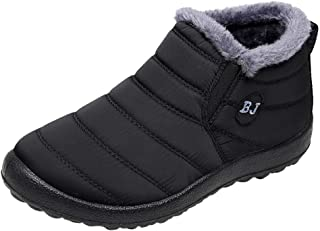 Londony ♥‿♥ 2018,Snow Boots for Mens Warm Fur Lined Sneaker Winter Anti-Slip Ankle Booties Slip On