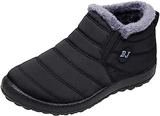 Fashion Women Winter Casual Keep Warm Ankle Boots Ladies Plus Velvet Sport Shoes Flat Snow Boots