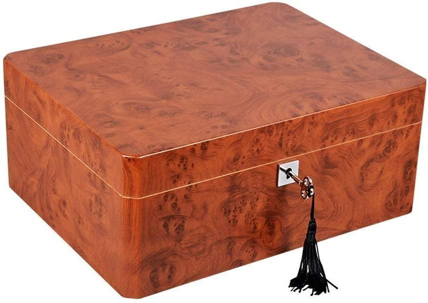 L-SHISM Cigar Humidor Premium Front Sale special price Deluxe - with Free shipping