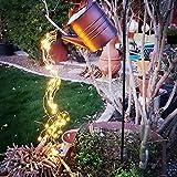 ONEVER Hängende Gartenlichter, Gießkannen-Lampe, Outdoor-Gartendekoration, LED-Lampe, Yard-Knopf, batteriebetrieben, langlebig, für Gehweg, Terrasse, Rasen, Hinterhof (ohne Halterung) (mit Halterung)