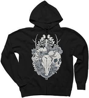 Pagan Skulls Women's Graphic Zip Hoodie - Design By Humans