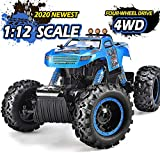 NQD RC Car, Remote Control Monster Trucks 1:12 Big Scale 4WD Off Road Rock Crawlers 2.2Ghz Radio Remote Control Car High Speed Racing All Terrain Climbing Car Gift for Boys