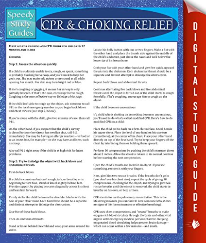 Download CPR & Choking Relief: Speedy Study Guides (English Edition) B00NVS568Y