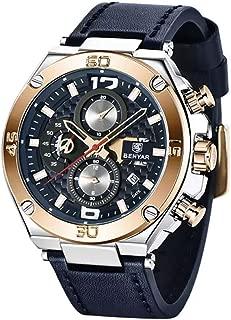Relojes de Hombre Cronógrafo De Cuarzo Reloj Men Moda para Caballero Caja de Acero Inoxidable