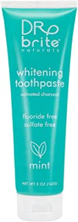Dr. Brite Mint Natural Whitening Toothpaste with Activated Coconut Charcoal and Vit C (5 Oz)