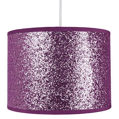 Modern en ontwerper helder paars glitter stof hanger/lampenkap 25cm breed