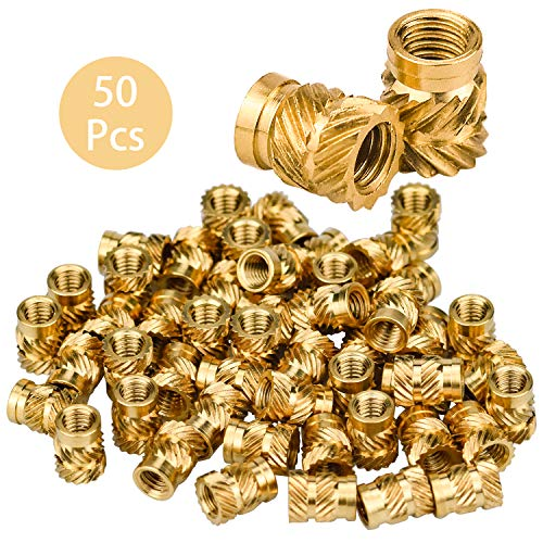 DESON 50 M3 Thread Knurled Brass Nut Inserts Nut Press fit nut for Plastic Parts Female Thread Kit by Heat or Ultrasound in 3D Printer Parts