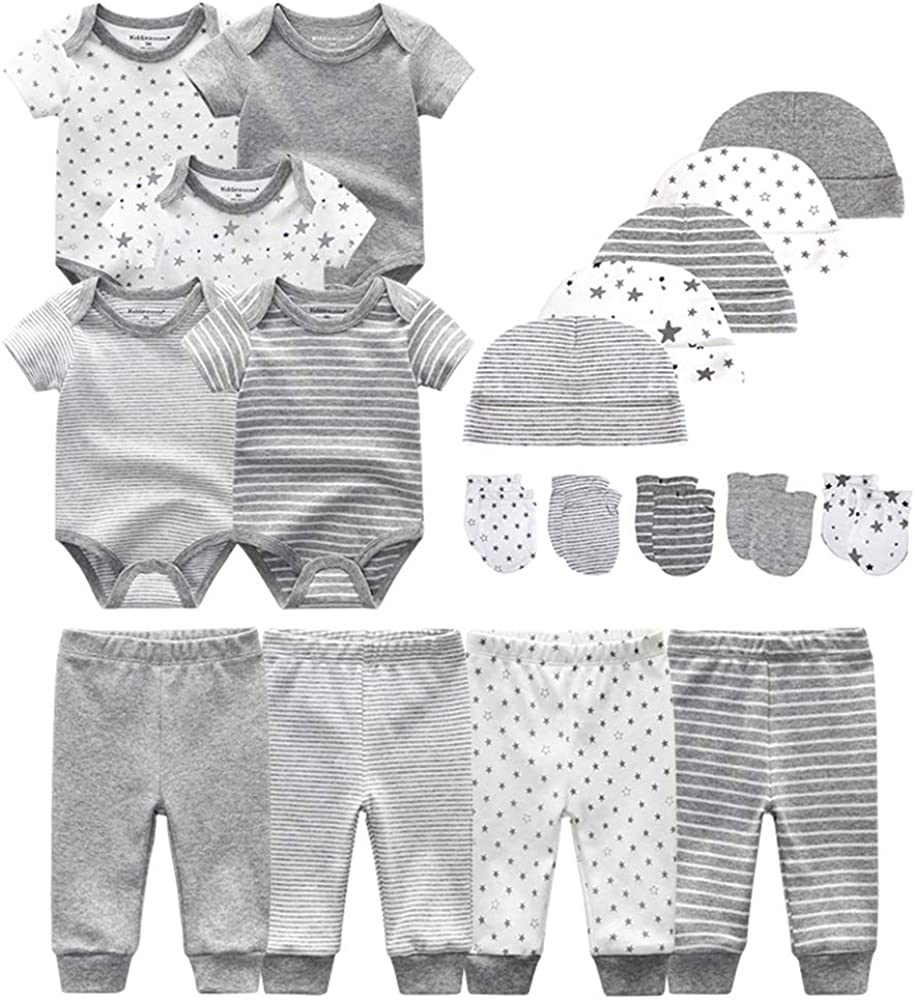 Chamie Newborn Baby Bodysuit Short Clothes f low-pricing Onesies Sleeve 2021