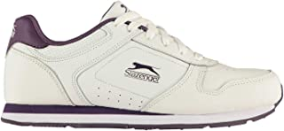 Slazenger Women Classic Ladies Trainers White/Purple UK 6.5 (39.5)