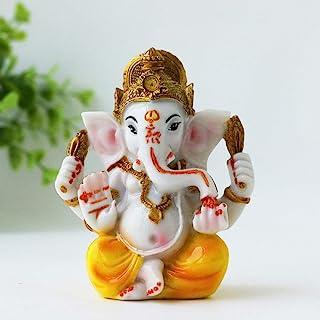 "BangBangDa Ganesh Statue for Car Dashboard 3.5"" H Yoga Meditation Figurine Fengshui Indian Buddha Lord Ganesha Statue Hind..."