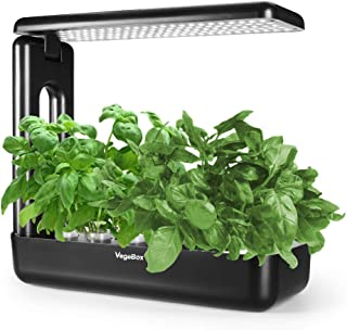 Hydroponics Growing System,Grow Smart for Plant, Built Your Indoor Garden(Large-Black)