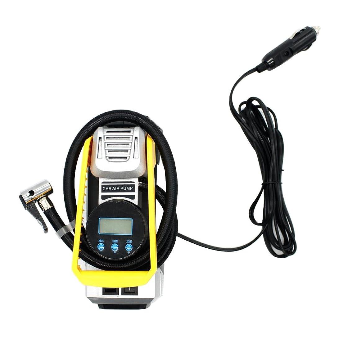 アナウンサー道徳教育めったにPerfeclan 電動エアーポンプ 自動空気入れ 空気圧測定 携帯便利 高品質 金属 エアコンプレッサー 照明付き